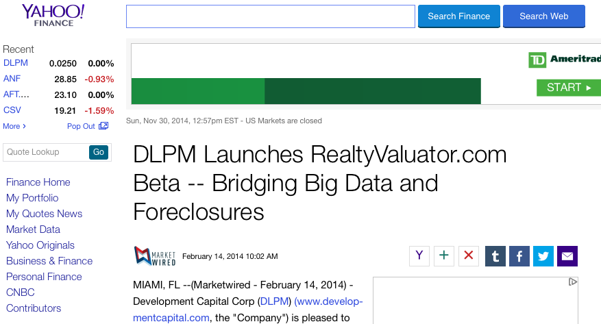 Launching Realty Valuator - DLPM foreclosure application